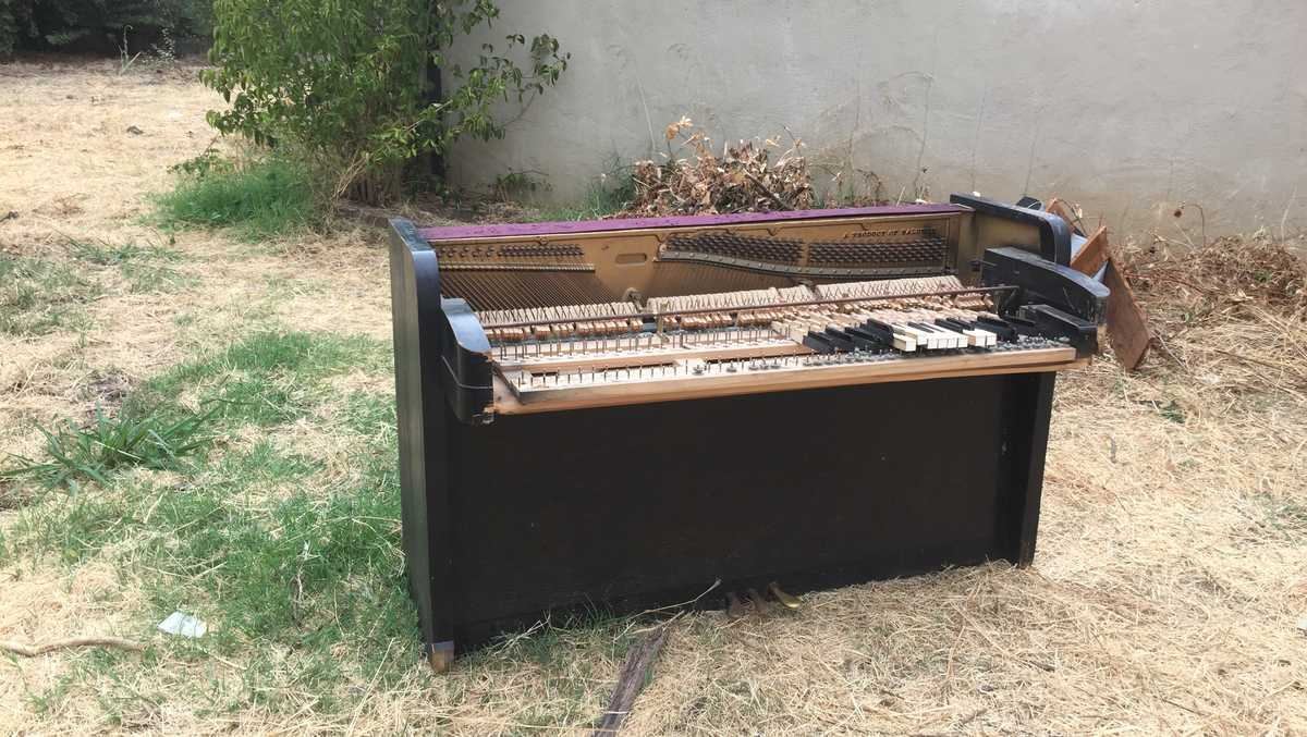 Woman Finds Mystery Piano In Her Sacramento Backyard