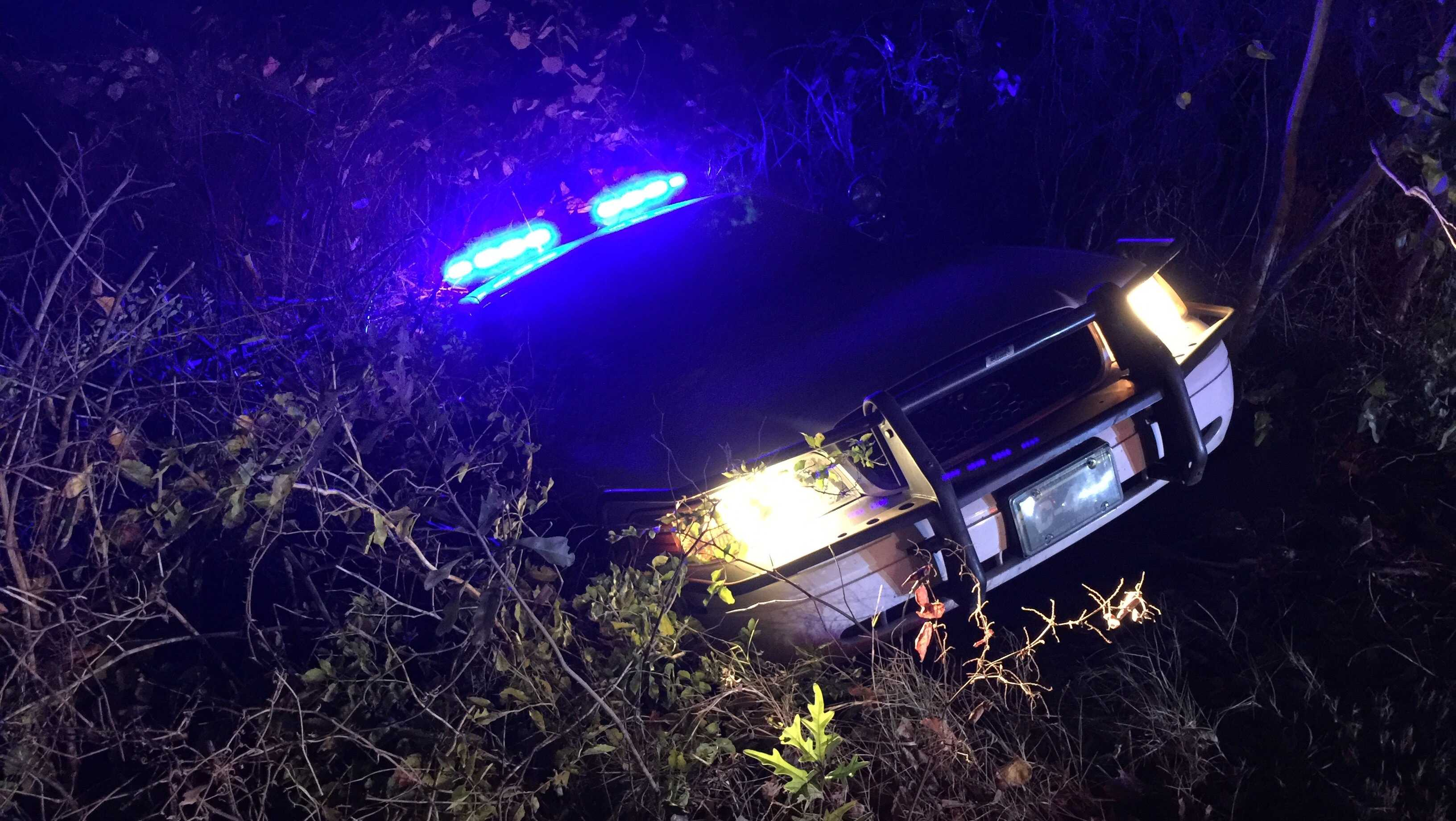 Pickens County deputy in ditch