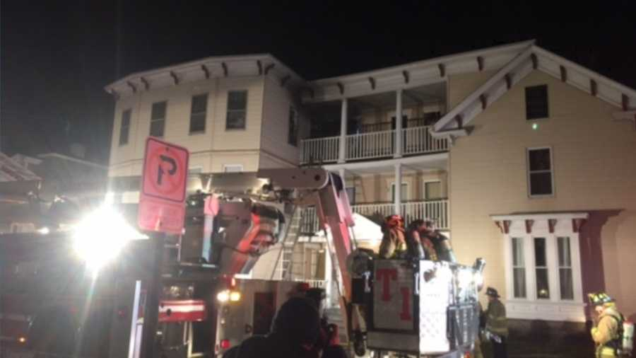 Woman badly burned in Pine Street fire
