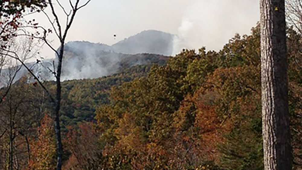 Pinnacle Mountain wildfire