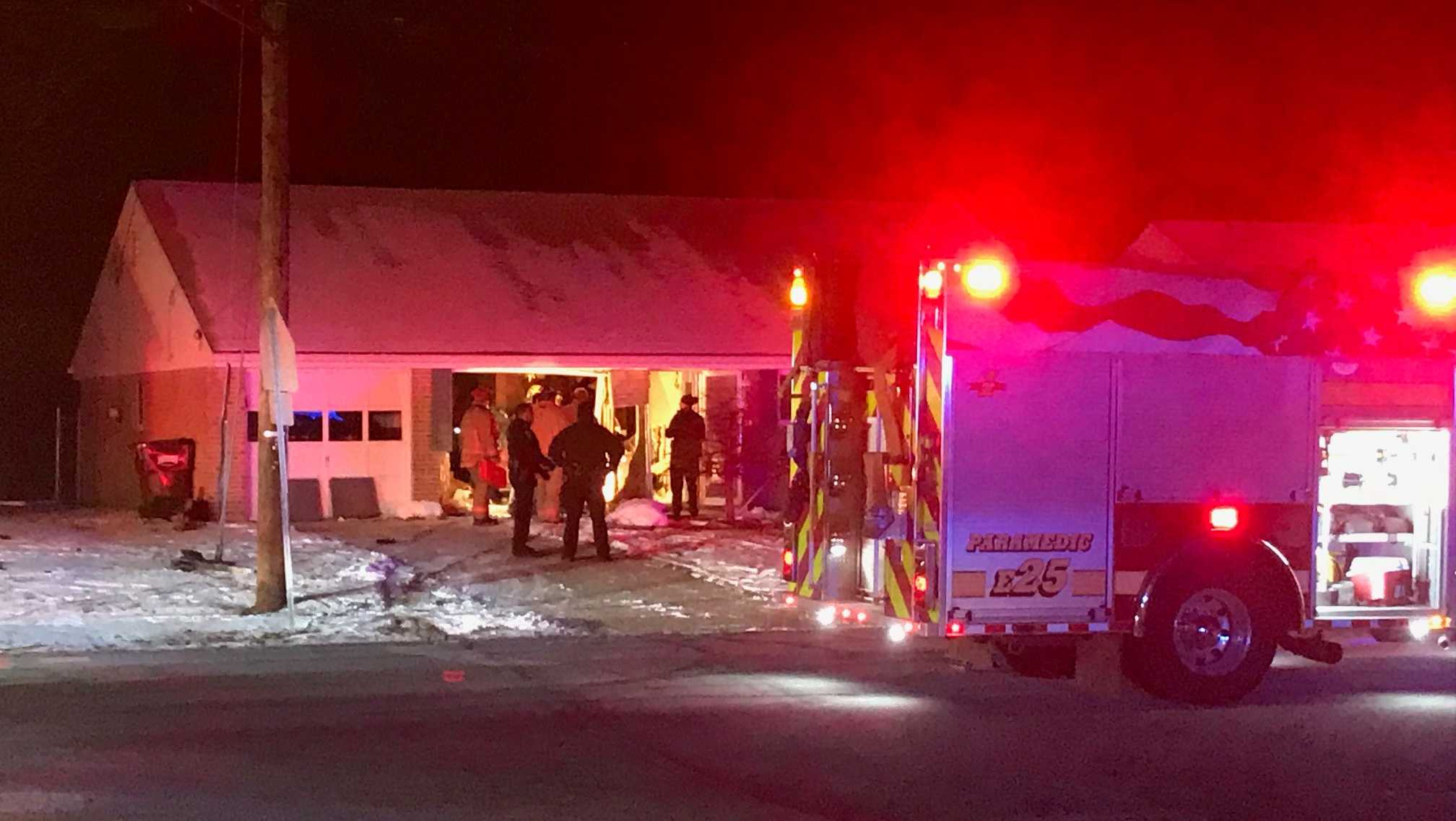 A car crashed into a home in Colerain Township Jan. 4, 2017.