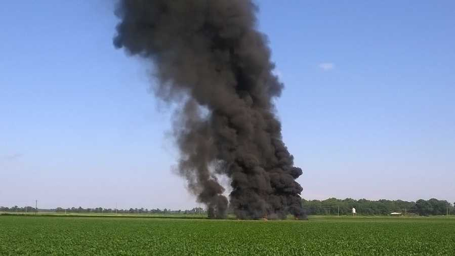 Military plane crashes in Mississippi