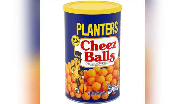 Beginning in July, Planters Cheez Balls and Cheez Curls will roll out on grocery store shelves nationwide and online, starting at a suggested retail price of $1.99.