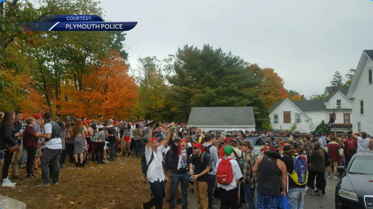 Plymouth State students gather illegally at private residence