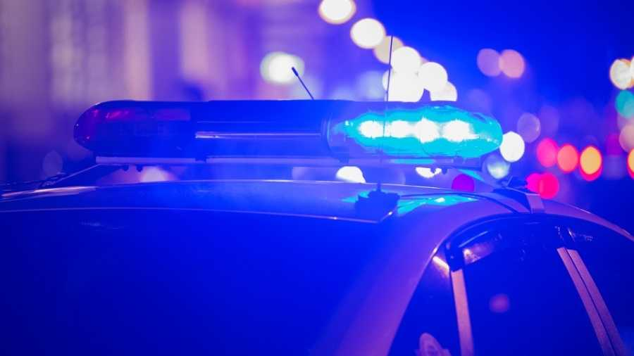 generic police lights - night