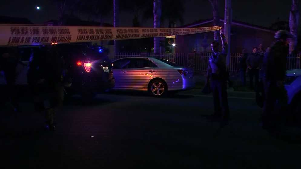 A standoff between police and an armed suspect who allegedly killed one officer and wounded another remains underway Saturday morning in Pomona, California.