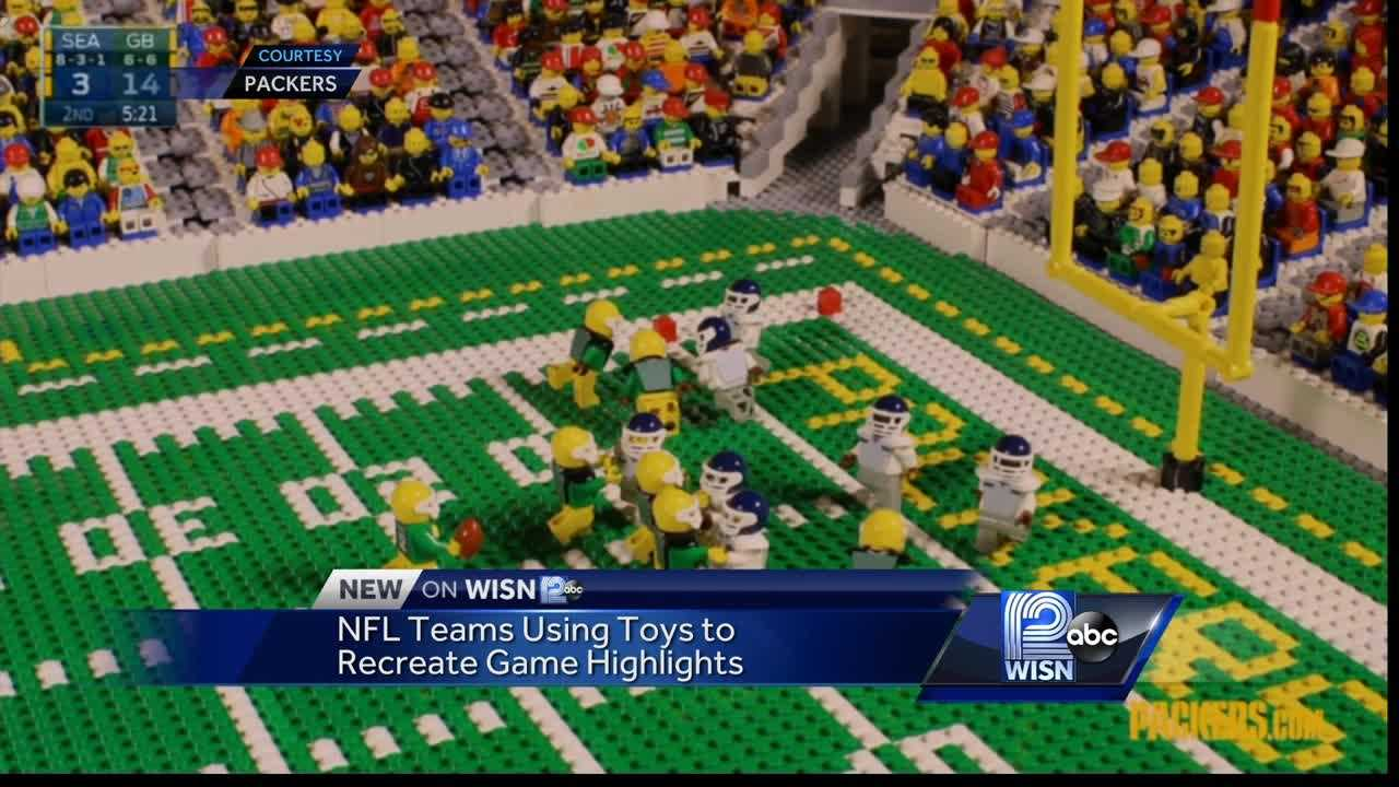 Packers use Legos to recreate highlights on social media