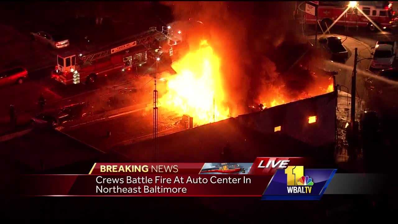 Baltimore auto shop fire