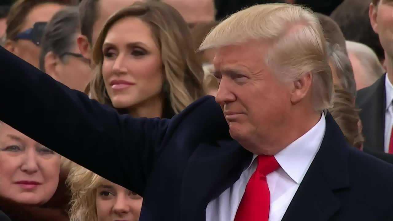 Donald Trump inauguration screen grab