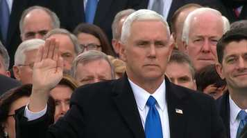 Mike Pence takes his oath of office