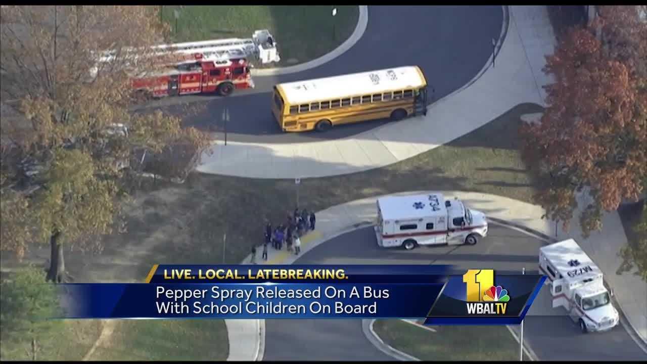 Montgomery Village school bus pepper spray