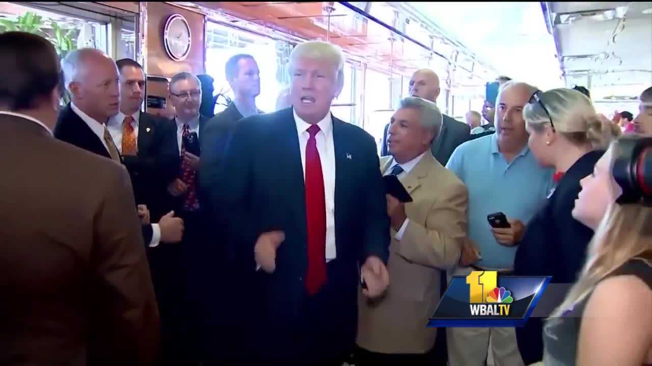 Donald Trump at Dundalk diner