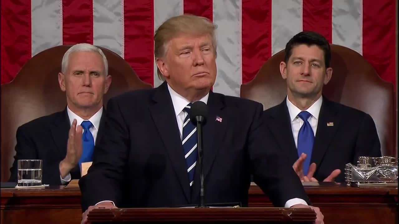 President Donald Trump delivered his first speech to a joint session of Congress on Tuesday, Feb. 28, 2017.