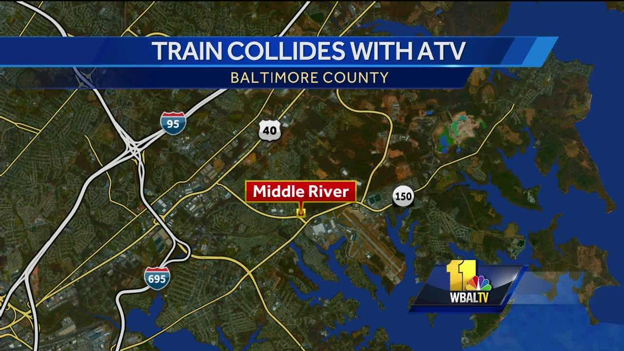 Middle River train-ATV crash map