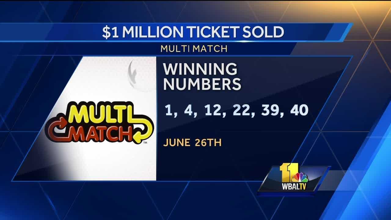 Multi-Match June 26 winning numbers