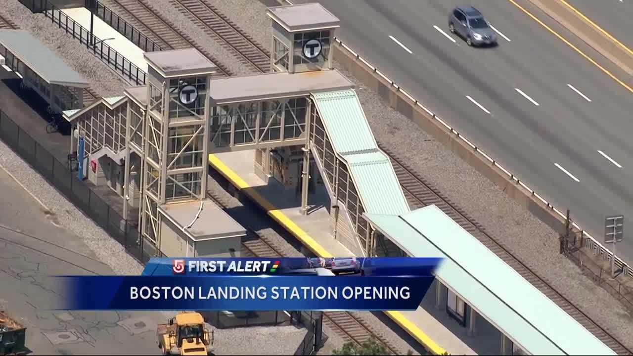 New $20M Boston Landing MBTA station opens Monday - Boston
