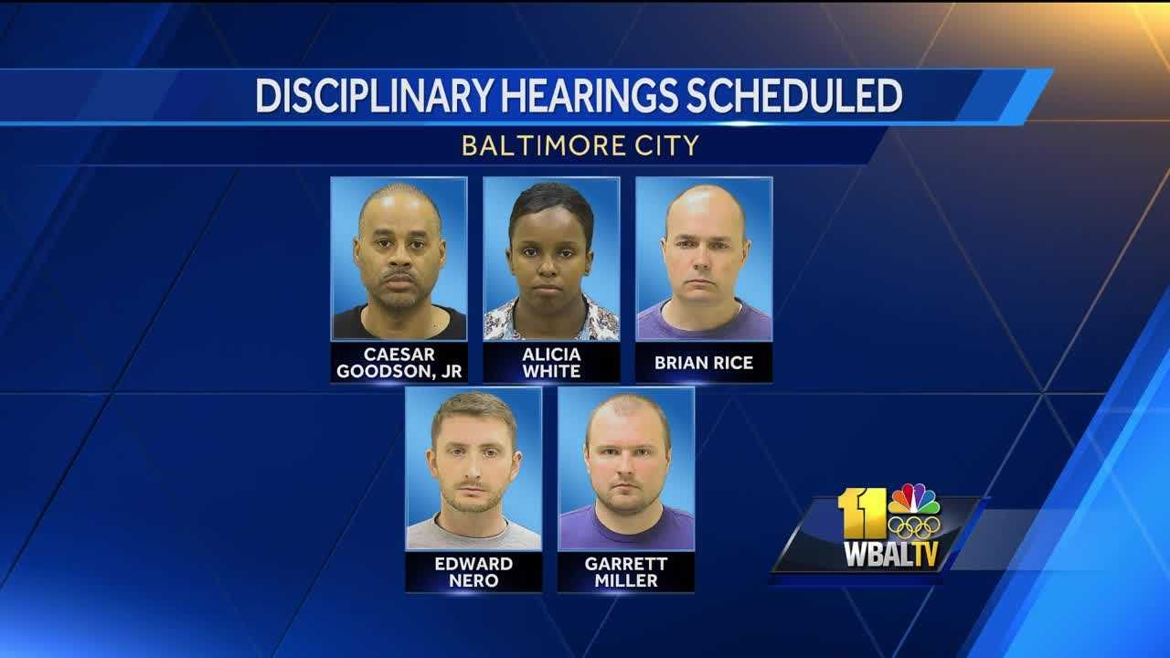 disciplinary hearings for Freddie Gray officers
