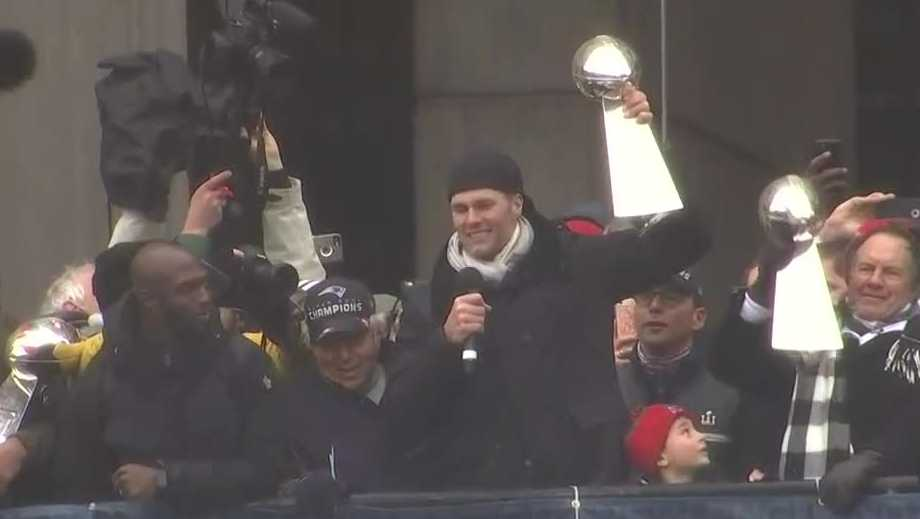 Brady at city hall