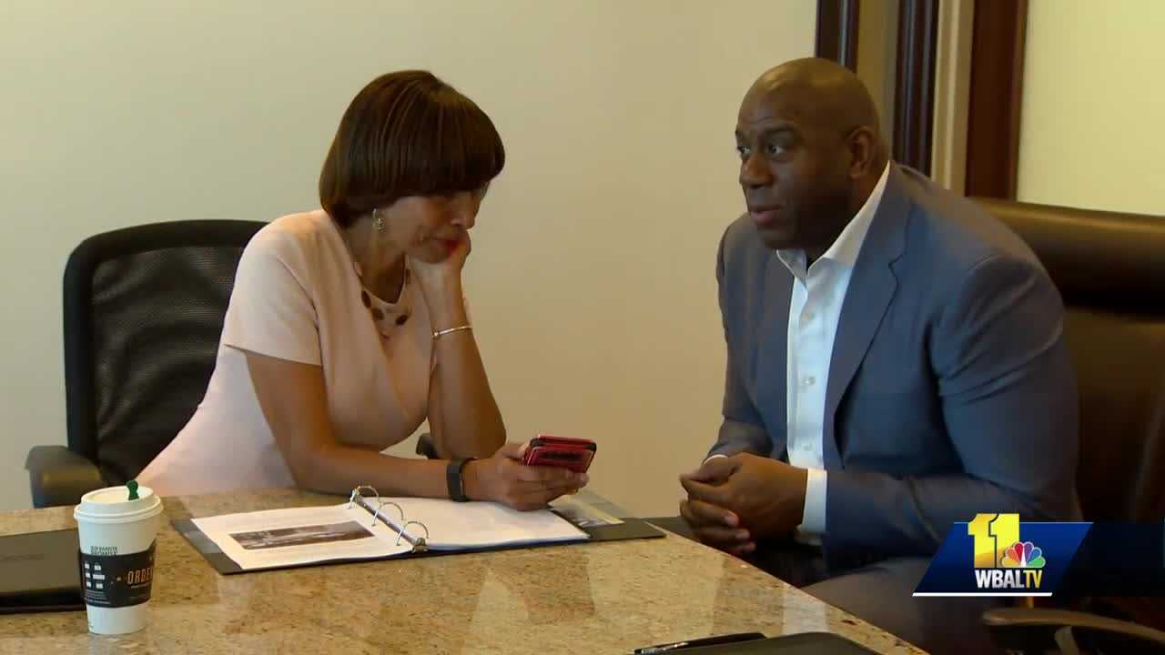 Magic Johnson, Mayor Catherine Pugh