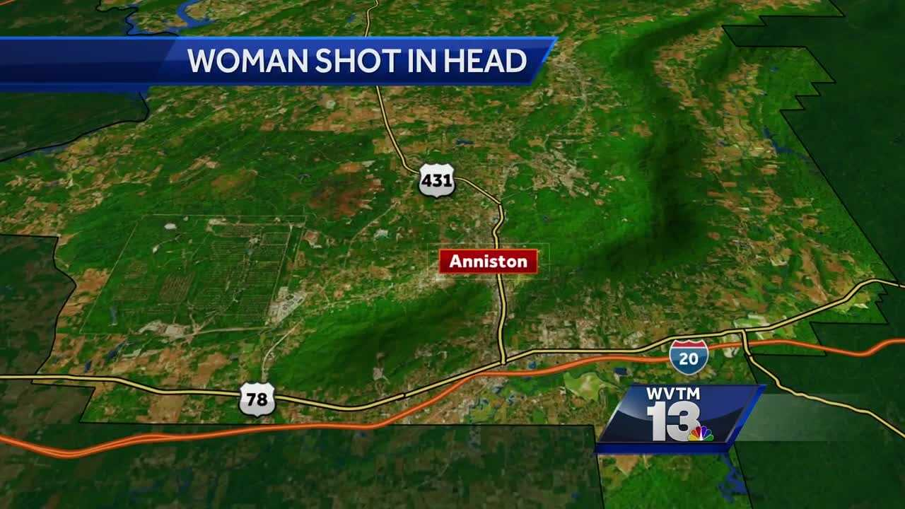 Woman shot in the head in Anniston