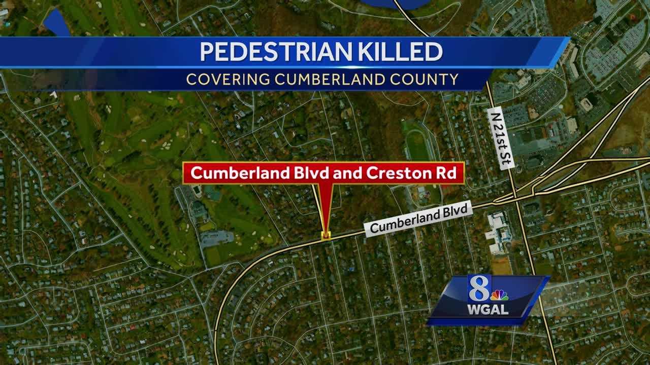 Pedestrian fatal map Camp Hill