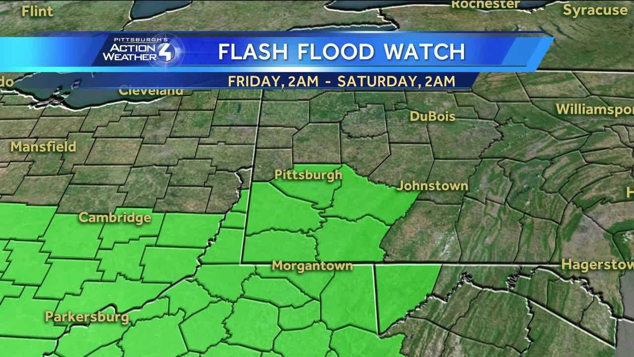 National Weather Service issues flash flood watch