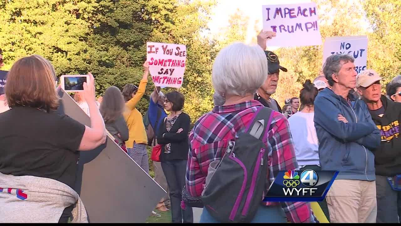Protesters at Falls Park and GSP