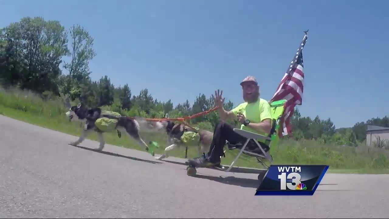 Homeless urban dog sled