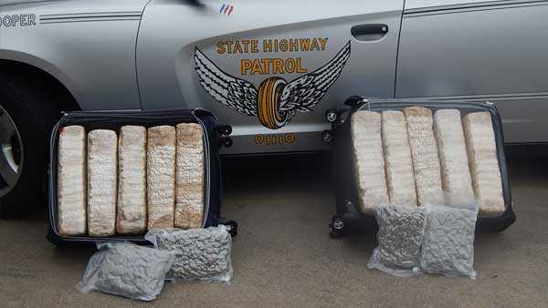 110 pounds of marijuana seized in traffic stop