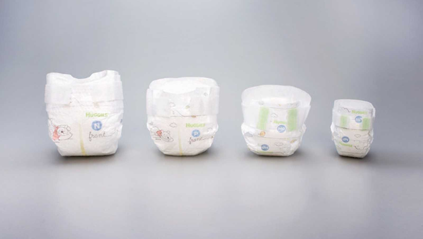 These tiny diapers fit babies less than 2 pounds