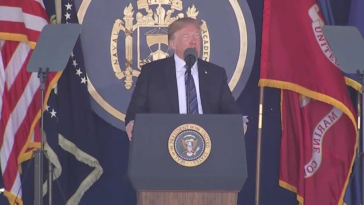 President Trump at US Naval Academy
