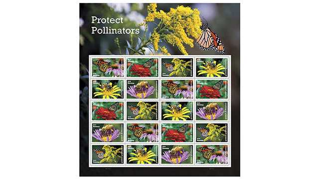 Protect Pollinators stamp