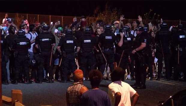 Family sees video of Charlotte police killing black man