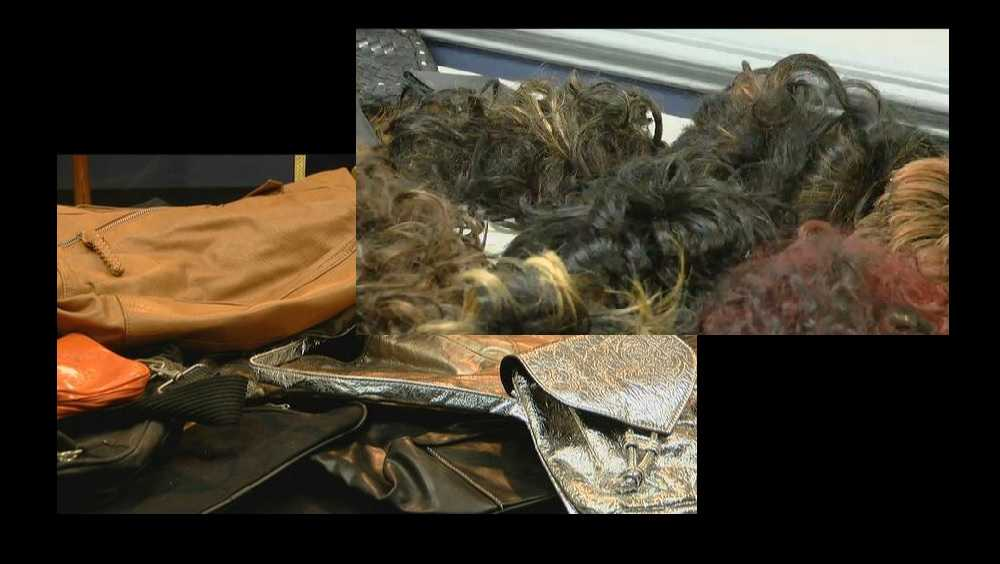 Purses, wigs seized during investigation