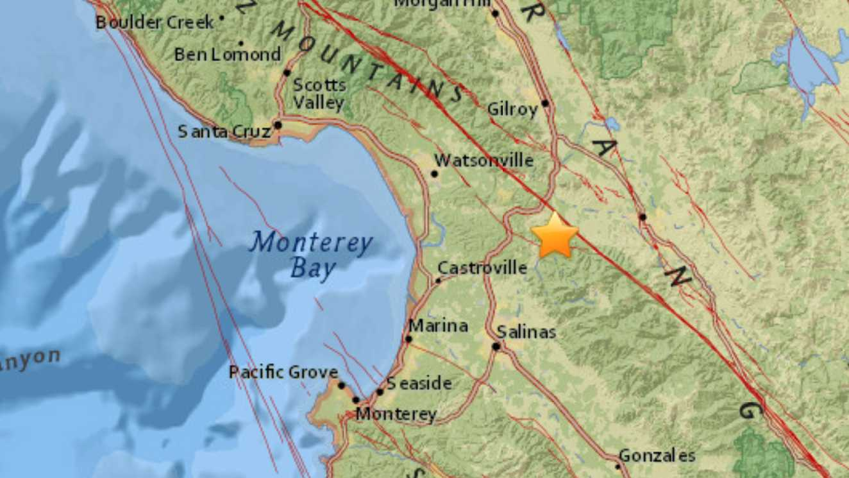 Earthquake near Hollister