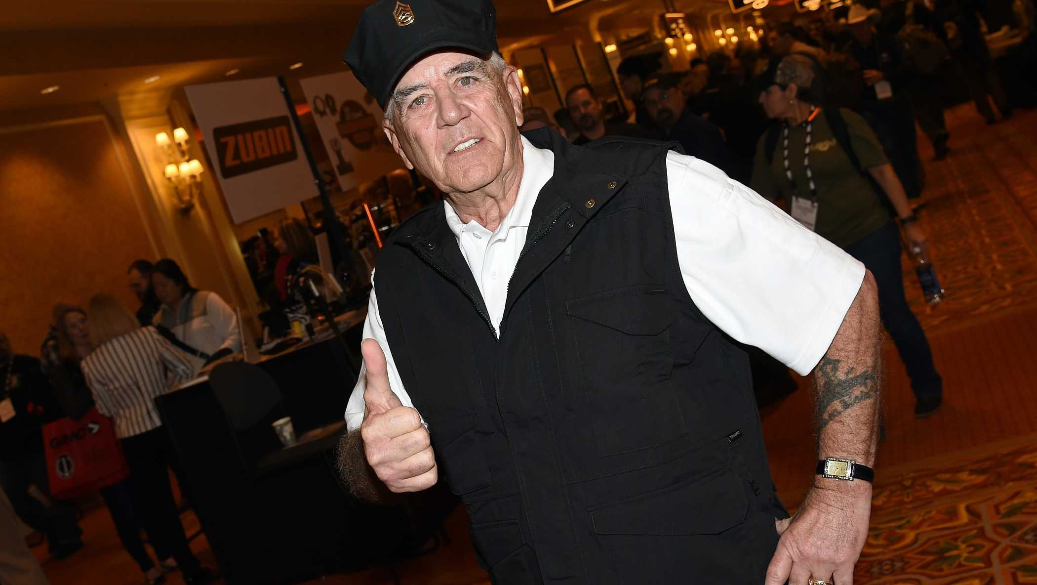 R. Lee Ermey attends the 2016 National Shooting Sports Foundation's Shooting, Hunting, Outdoor Trade (SHOT) Show on January 19, 2016 in Las Vegas, Nevada.