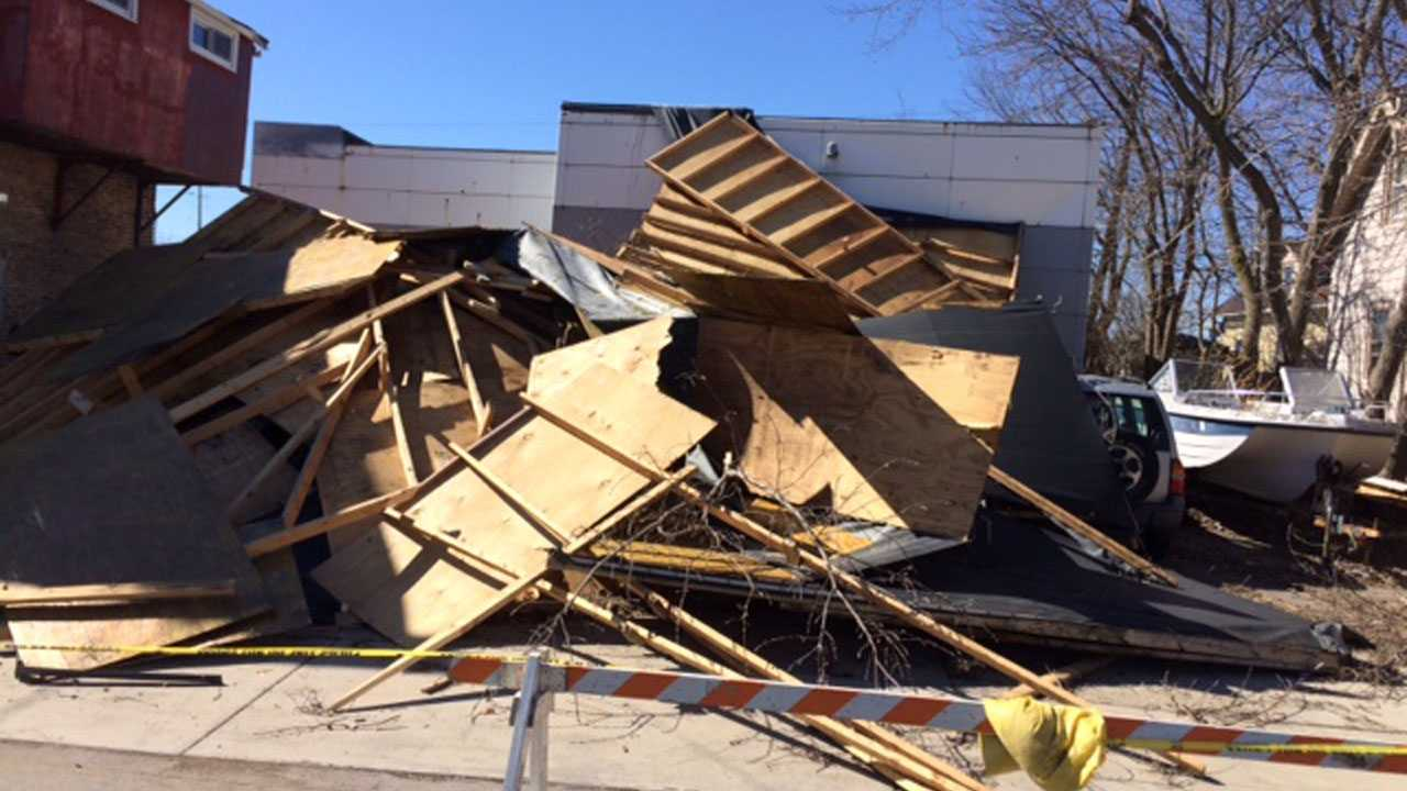 Racine, Building Collapse,