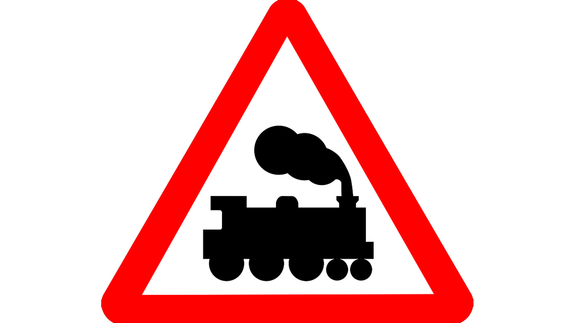 File image of a railway crossing sign