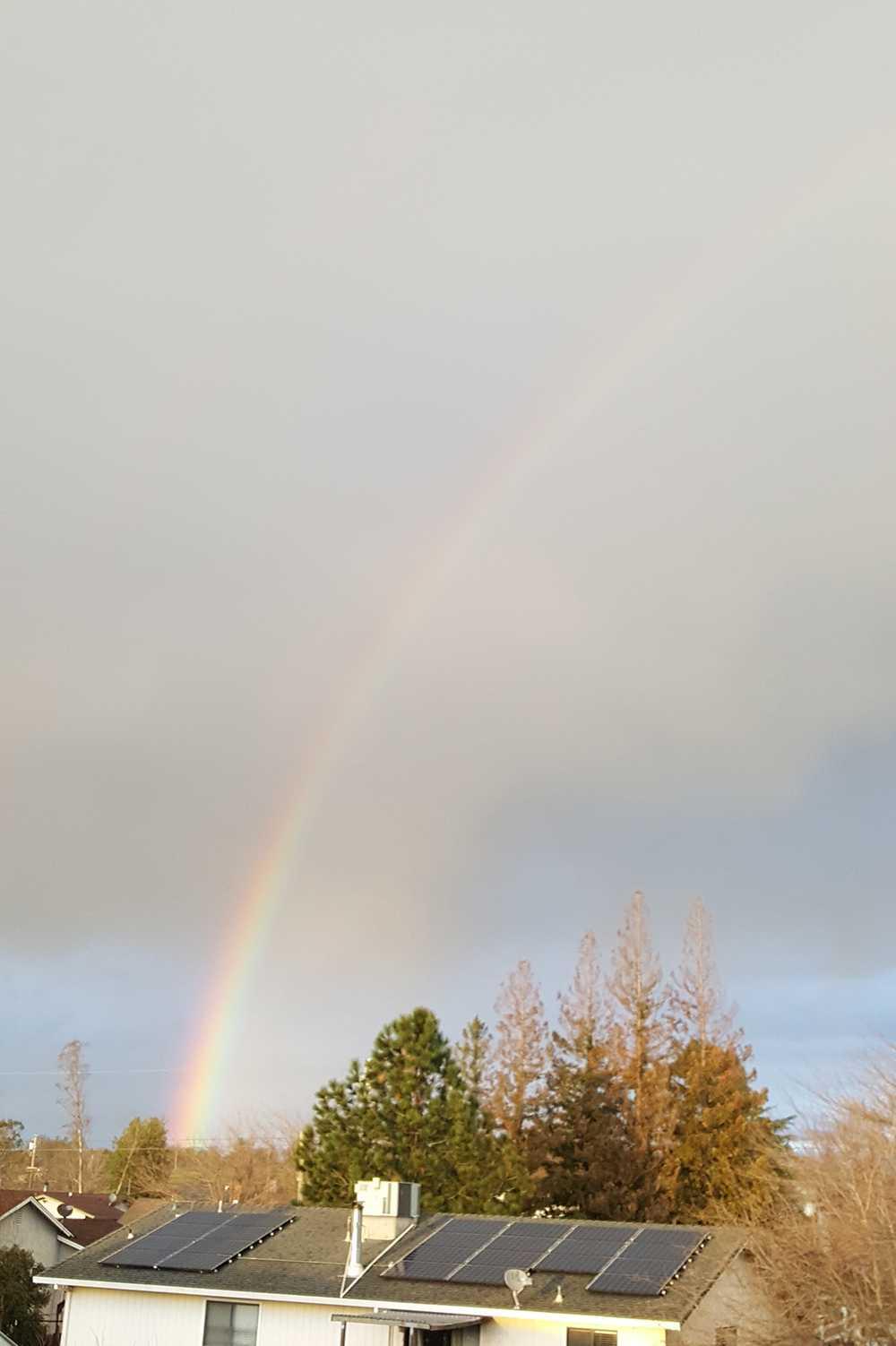 Cheryl Boring took this photo of a rainbow on Monday, Jan. 23, 2017.
