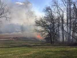Randallstown brush fire