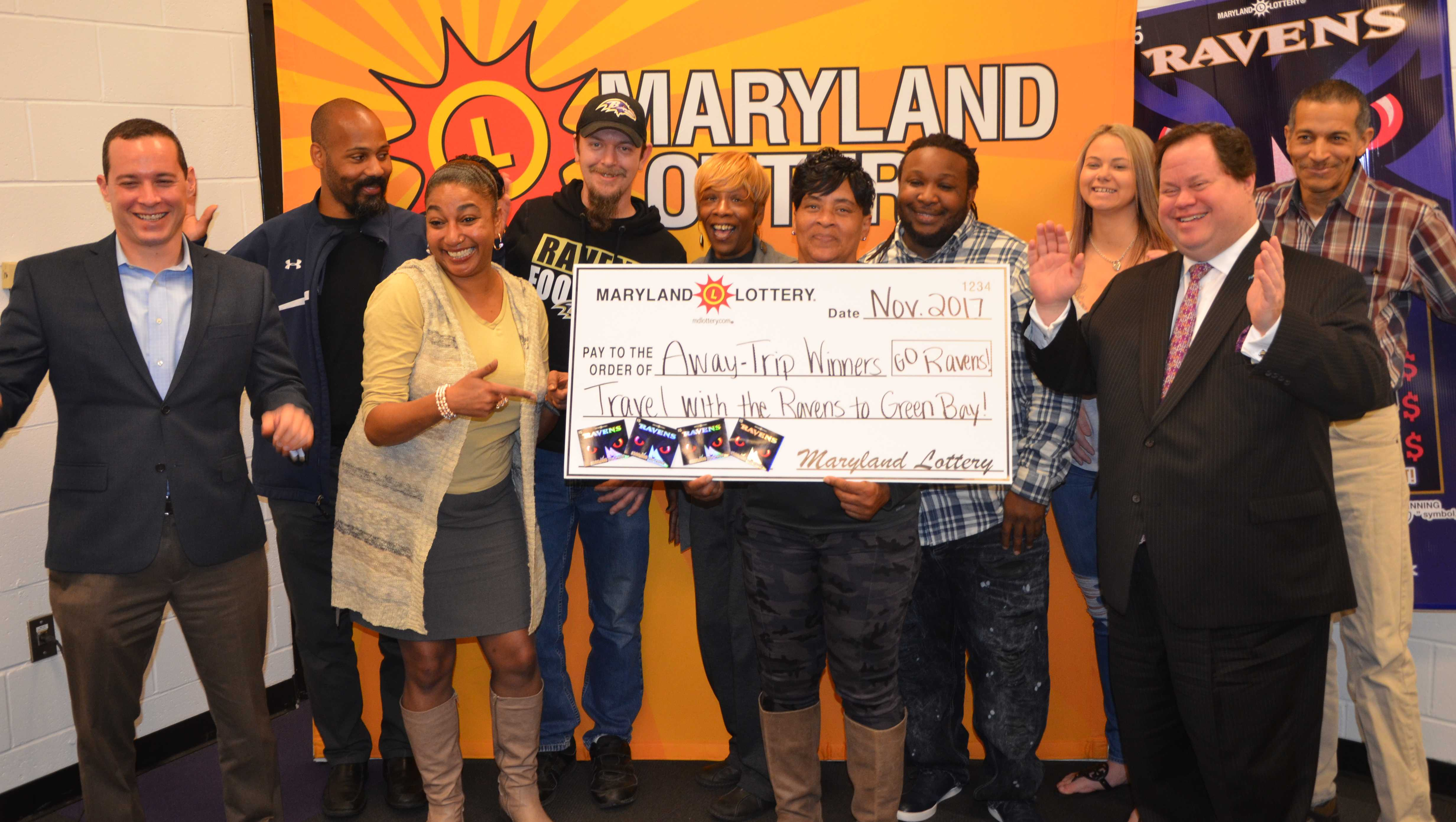 The Maryland Lottery and the Baltimore Ravens winners