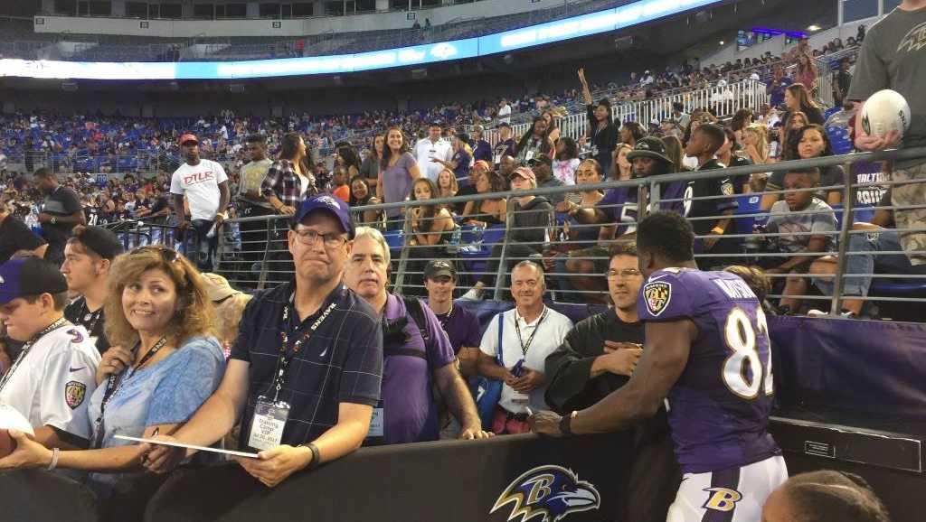 Ravens stadium practice