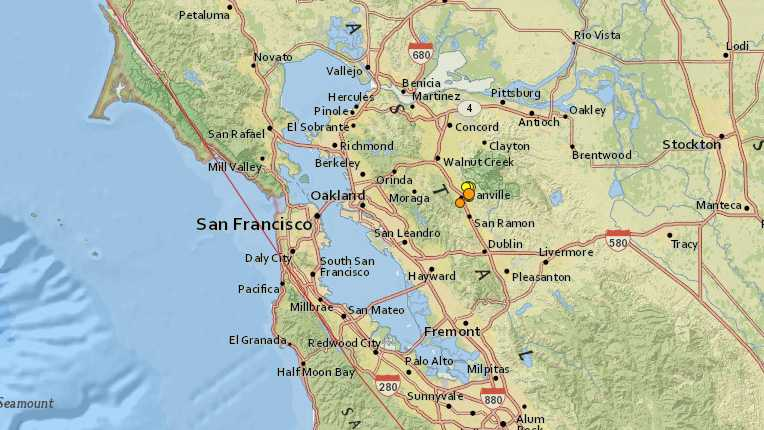 <p>A series of small earthquakes shook the area around Danville, including one with a 3.3 magnitude.</p>