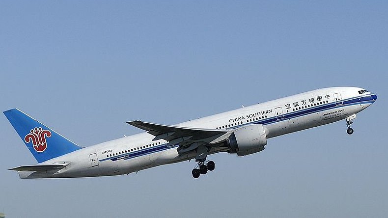 <p>A China Southern Boeing 777</p>