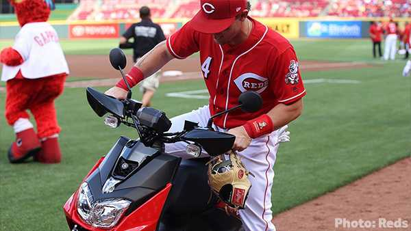 Reds' Scooter makes baseball history with four homers against St. Louis
