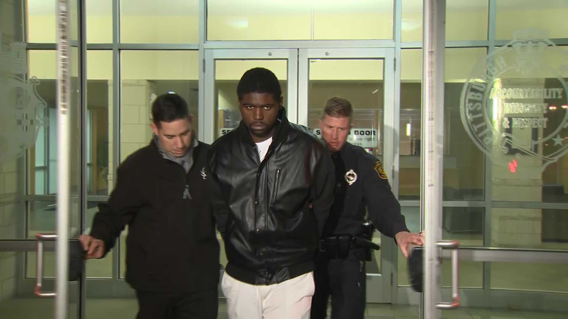 Markese Reese in handcuffs