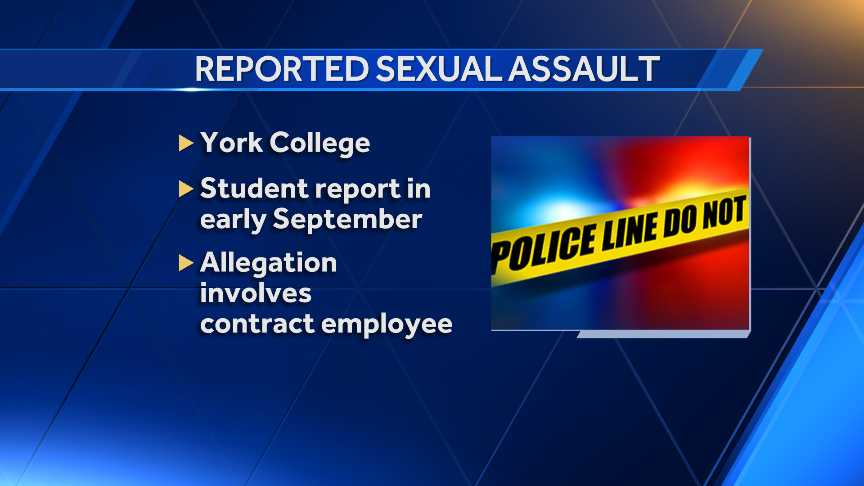 Sexual assault York College graphic