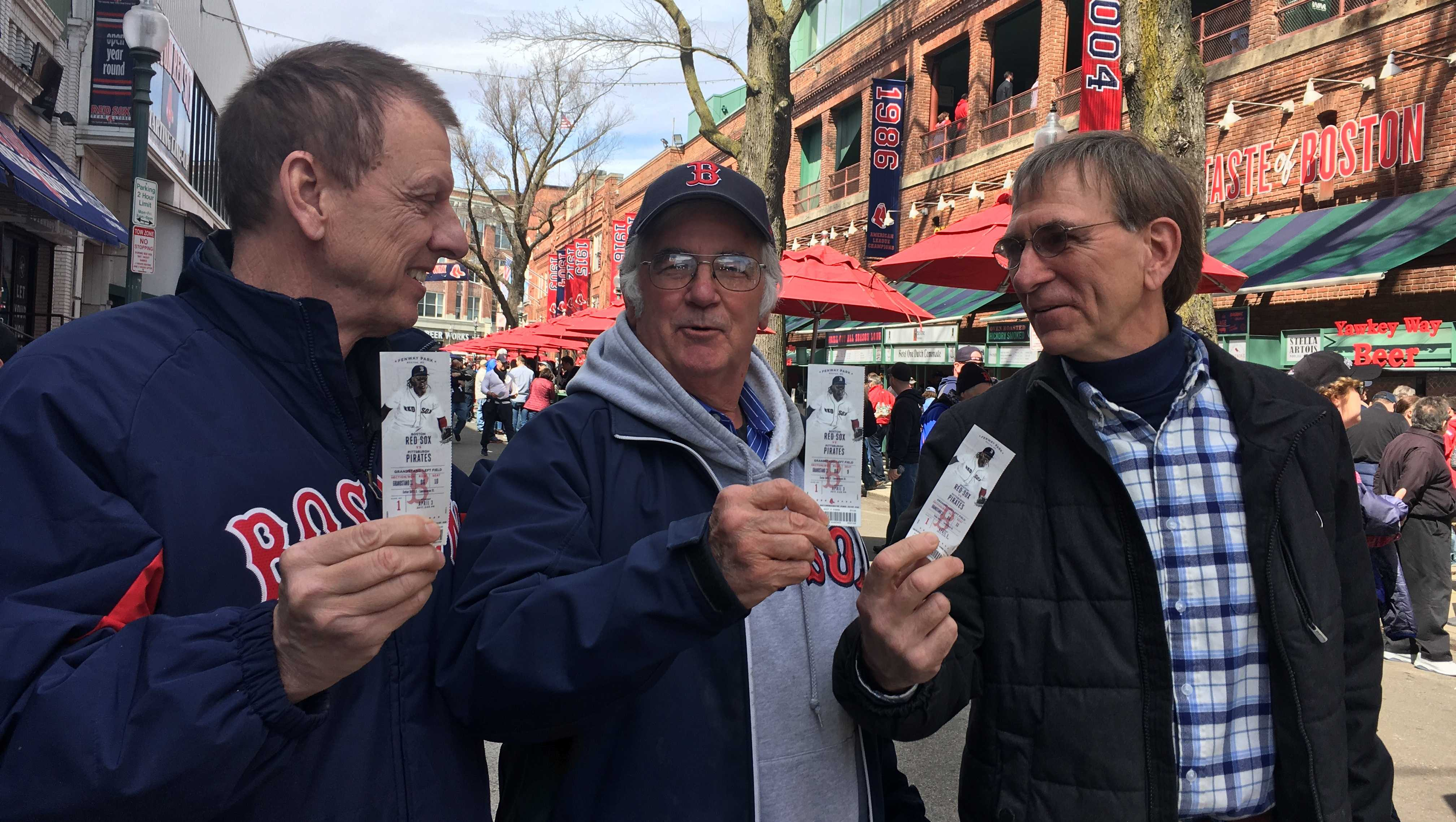 Three fans have attended opening day together for 50 years