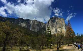 Ribbon Fall at El Capitan in Yosemite National Park on Monday, May 8, 2017.