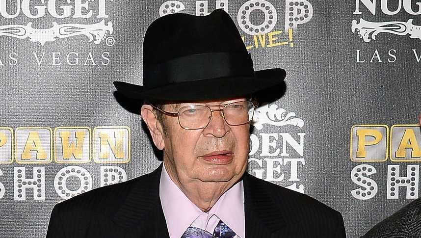 JANUARY 30: Richard 'The Old Man' Harrison arrives at the opening of 'Pawn Shop Live!,' a parody of History's 'Pawn Stars' television series, at the Golden Nugget Hotel & Casino on January 30, 2014 in Las Vegas, Nevada.